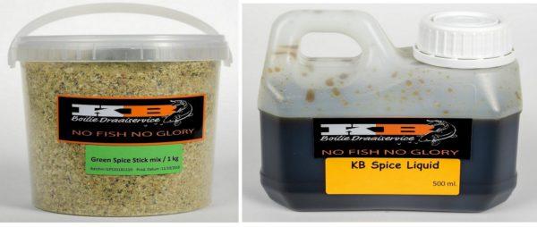 Green spice Stick mix + Liquid KB Boilies