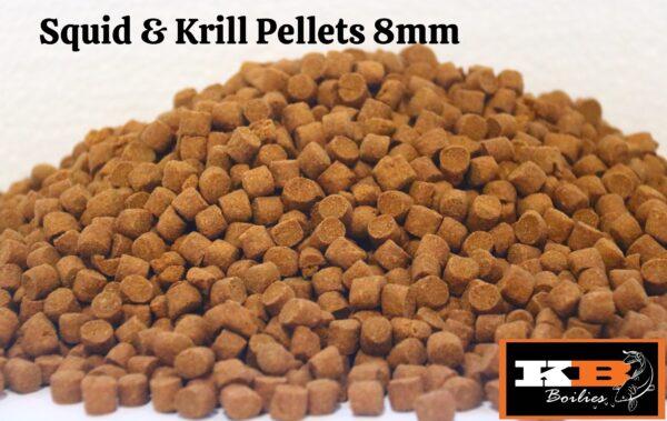 Squid & krill pellets